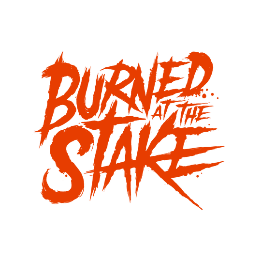 The logo for metal band Burned at the Stake