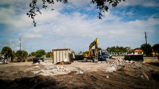 A look at Downtown Village Square, which has been talked about since 2006. Buildings are finally being demolished to make way for the commercial/residential development encompassing a city block, off Cape Coral Parkway in south Cape Coral.