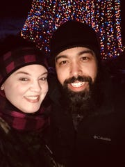 Courtney Schmit and Dennis Coppens celebrated the one-year anniversary of their engagement in front of the big Christmas tree at WPS Garden of Lights with a photo this month. Dennis popped the question Dec. 14, 2018, by the tree. The couple will marry Oct. 10 at the garden.