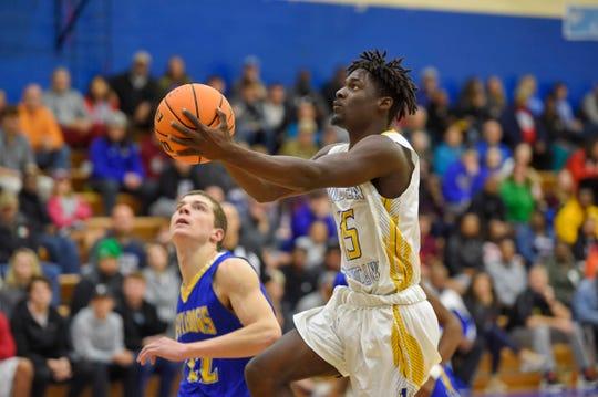 Wren hosted Travelers Rest in boys varsity basketball Tuesday, Dec. 17, 2019.
