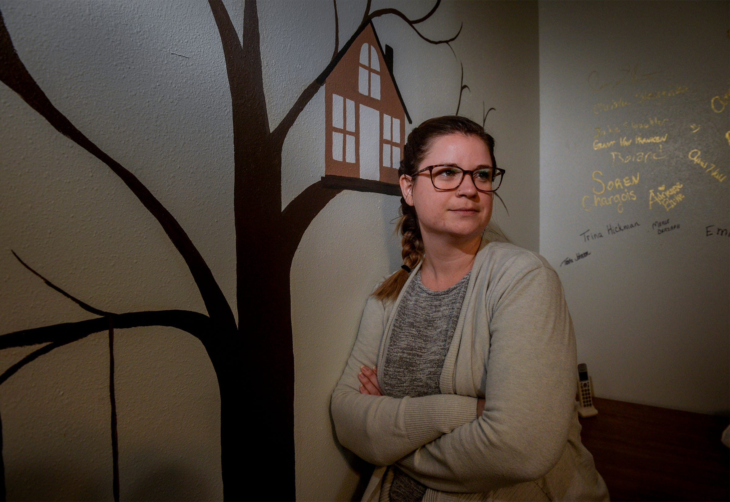 Samantha Stutzman, program coordinator for Toby's House Crisis Nursery, is hoping to open the seven bed nursery serving children six years old and younger in early 2020.  Toby's House will offer parents emergency child care for up to 72 hours.