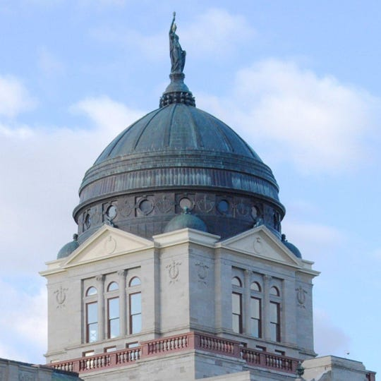 The dome of the Montana Capitol in Helena.