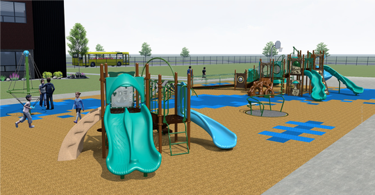 A combined donation of $350,000 from the Grey Family Foundation and D. A. Davidson will go to fund the inclusive playground at the new Longfellow Elementary School.