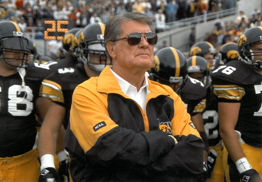 Hayden Fry, Iowa's head football coach from 1979 to 1998, passed away Tuesday at the age of 90.