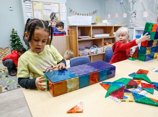 Children play and create at St. Nicholas Early Learning, Inc. on Wednesday, Dec. 18, 2019.