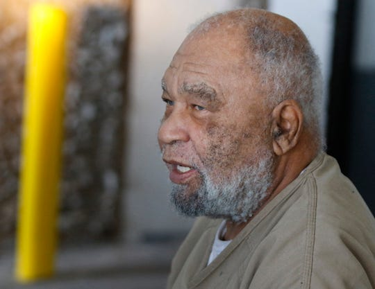 In this 2018 photo, Samuel Little, who often went by the name Samuel McDowell, leaves the Ector County Courthouse after attending a pre-trial hearing in Odessa, Texas. Authorities in Mississippi are asking for the public's help in identifying a victim of a confessed serial killer and are using a sketch drawn by suspect.