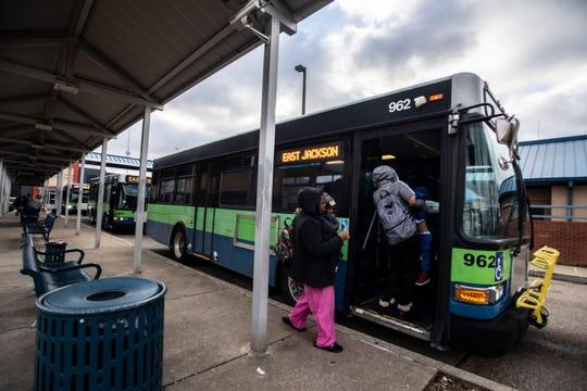 The Jackson Transit Authority runs 11 bus routes around Jackson, Tenn.