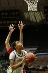 Purdue forward Ae'Rianna Harris (32) goes under the net during the first quarter of a NCAA women's basketball game, Wednesday, Dec. 18, 2019 at Mackey Arena in West Lafayette.