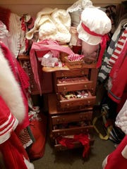 Jacki's Mrs. Claus wardrobe includes items her father procured as head of the Cedar Point wardrobe department and inherited items from her Mrs. Claus mentor.