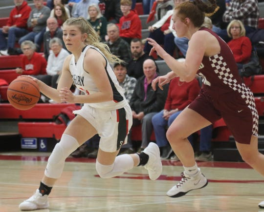 Shelby sophomore Haylee Baker sparked the Lady Whippets to a thrilling double-overtime victory over Willard on Tuesday.
