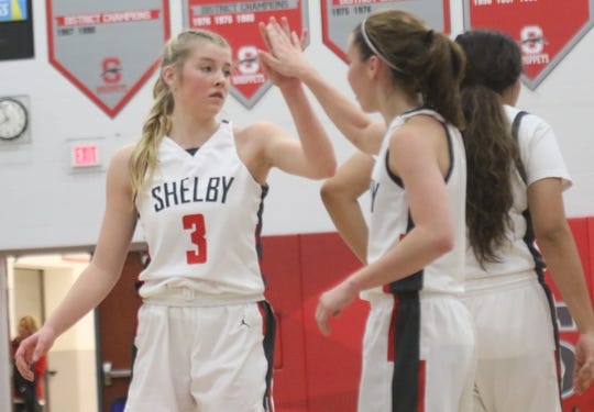 Shelby's Haylee Baker was named the Mansfield News Journal Female Athlete of the Week.