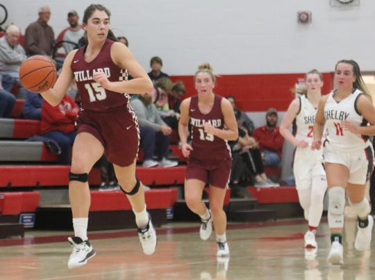 Willard's Cassidy Crawford leads the Lady Flashes into battle with Mansfield Senior on Saturday.