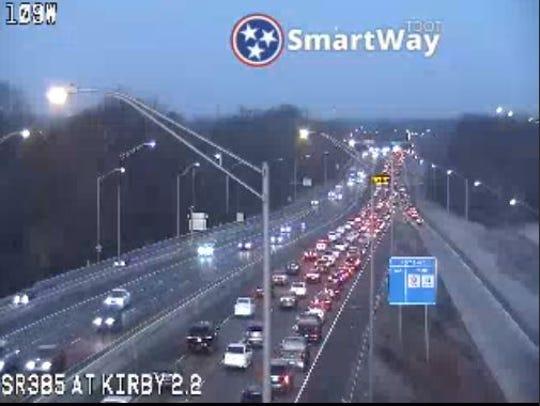 Traffic along Highway-385