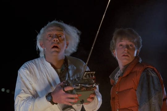 "Watch the classic movie ""Back to the Future"" outdoors on a giant inflatable screen Saturday at Cape Coral Movie in the Park."