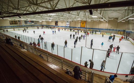 Skating enthusiasts enjoy the public skate time at Naga-Waukee Ice Arena in Delafield in January 2016. The arena has opened its public skating hours for the season.
