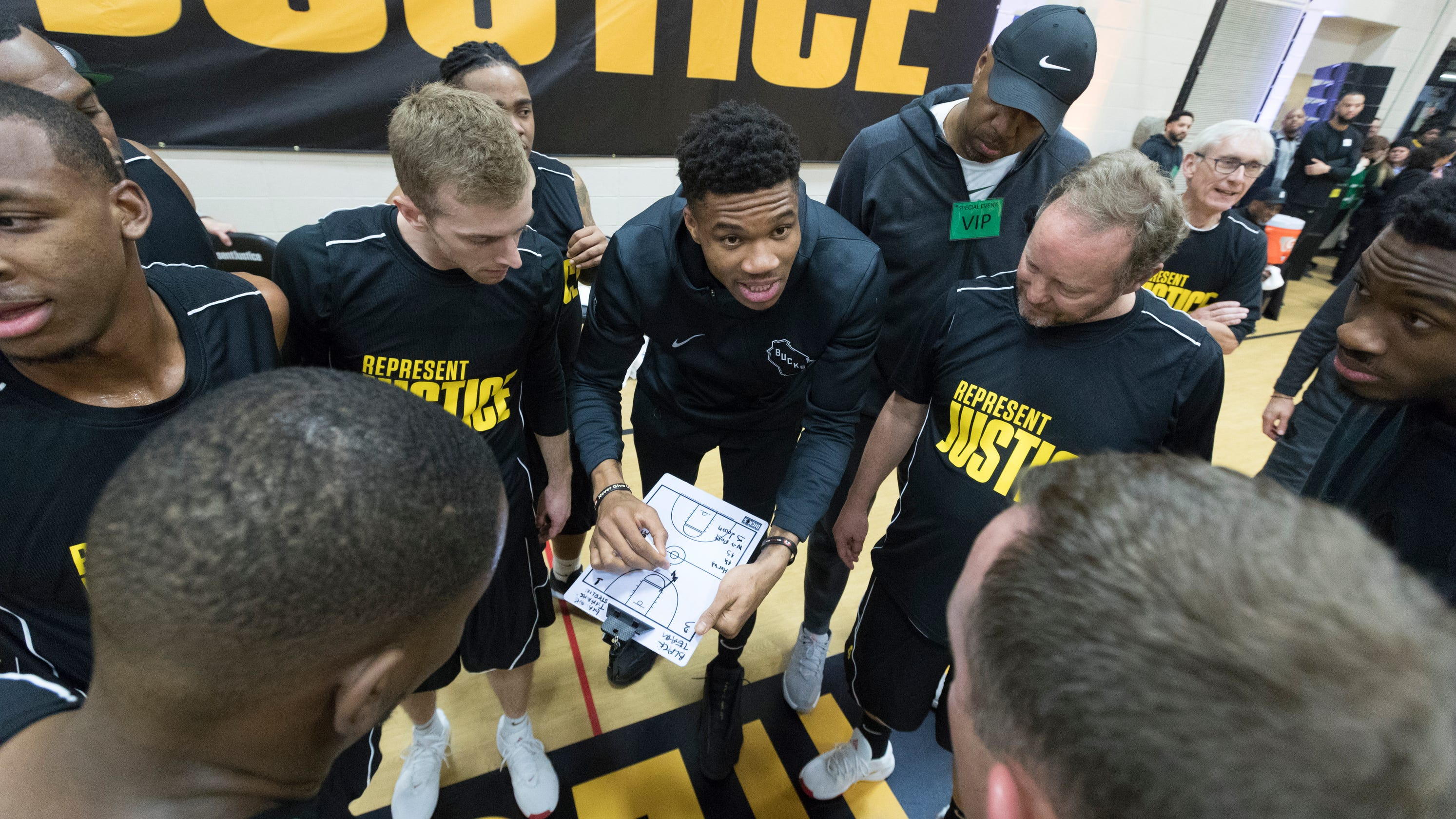 Bucks visit Racine Correctional Institution to 'Play for Justice'