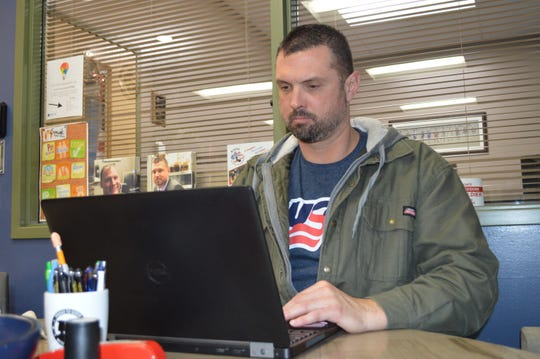 Veteran David Brown is a student mentor at WCTC's Veterans Center.