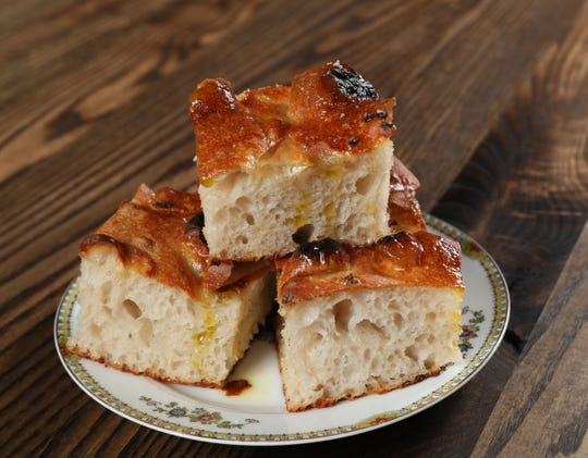 The focaccia of which dreams are made, at Ca'Lucchenzo Pastificio & Enoteca in Wauwatosa, one of 2019's best new restaurants.