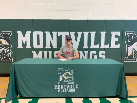 Montville quarterback Michael Burke signed a National Letter of Intent with Sacred Heart.