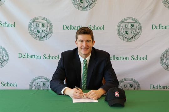 Delbarton senior tight end Lukas Ungar signed a National Letter of Intent with Stanford on Dec. 18.