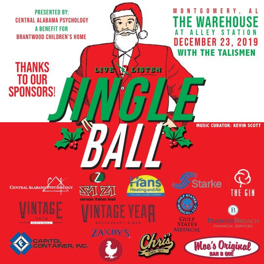 Jingle Ball is Dec. 23 at The Warehouse at Alley Station in downtown Montgomery.