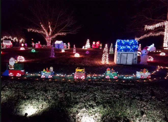 Fairview area residents are filled with the holiday spirit, offering spectacular light displays like this one at 7289 Old Cox Pike in 2017.