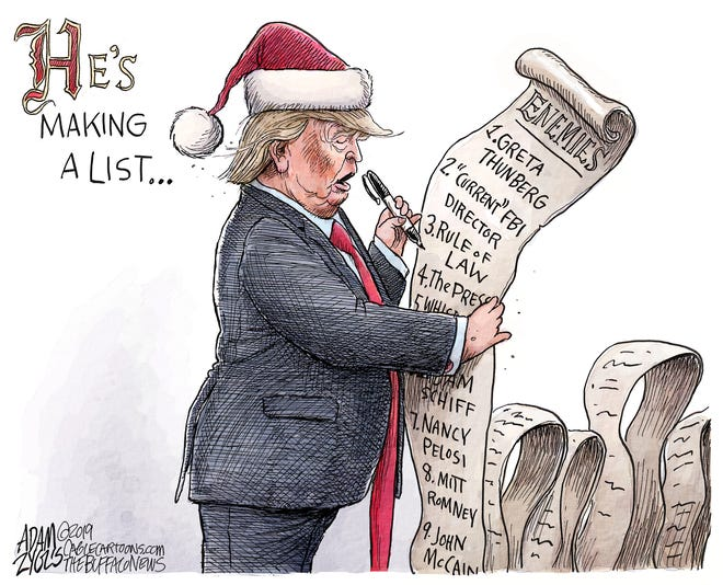 Santa Trump is making a list.