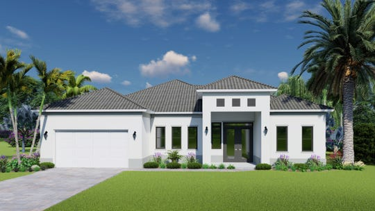 The three bedroom/two bath Laguna model offers 1,765 square feet of living space with a total of 2,566 square feet.