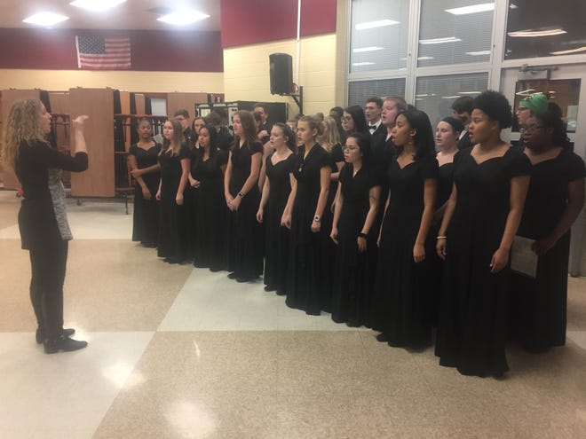 Students performed a series of Christmas tunes prior to the official start of the Dec. 17 Licking Heights Board of Education meeting, its final meeting of 2019.