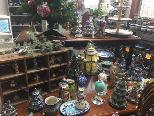 Some of the holiday items currently available at Sostenuto Arts in Granville.