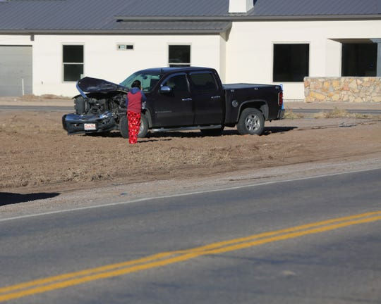 A Las Cruces school bus and pickup truck collided early this morning, Wednesday Dec. 18, 2019, on the intersection of Doña Ana Road and East Taylor Road.