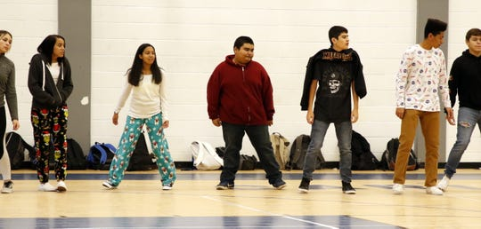 Carlsbad High students work on their dance steps during a PE class on Dec. 18, 2019. The final two weeks of PE classes in December focus on dancing to give the students a chance for indoor exercise during the Christmas break.
