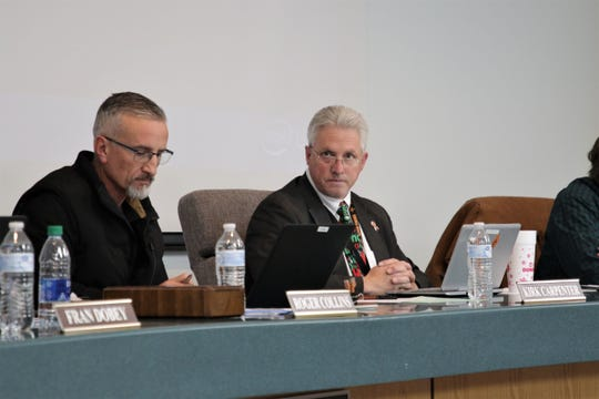 Aztec Superintendent Kirk Carpenter discusses the district's medical cannabis policy at a school board meeting in Aztec on Dec. 17, 2019.