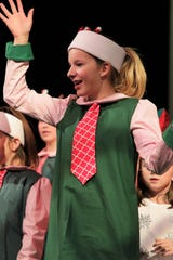 """Devyn Erickson plays a Rockette in the Heather McGaughey Youth Theatre production of """"Elf Jr., the Musical."""""""