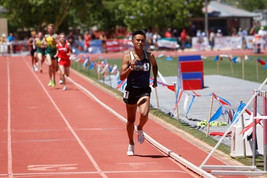 Former Kirtland Central runner Kashon Harrison ended his tenure with the Broncos by winning back-to-back state cross country titles, back-to-back 1,600 and 3,200-meter state titles and garnering two third-team All-American honors.