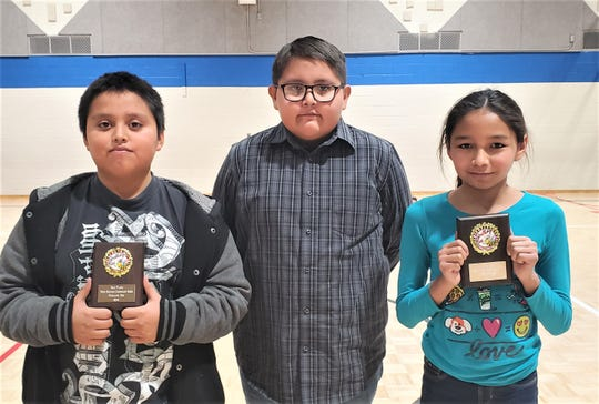 Francisca Martinez ,a 5th-grader, won the spelling bee in the eighth round.  Elias Belin, a 4th-grader, placed second and Jerome Jim, a 3rd-grader, placed third.