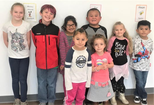 These are the Students of the Month at Sierra Vista Primary in Ruidoso.