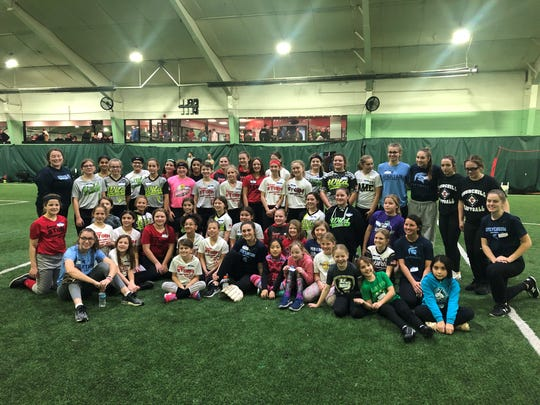Livonia Stevenson and Churchill held a free softball clinic for area girls this fall.