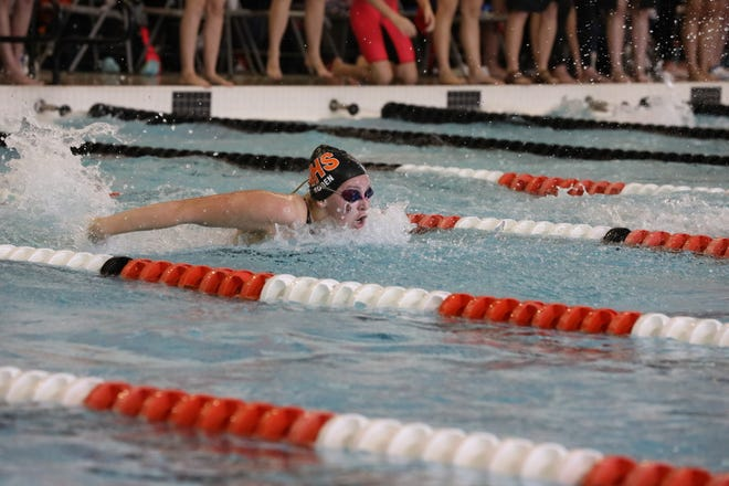 Northville freshman swimmer Emily Roden won the state championship in the 100 fly.