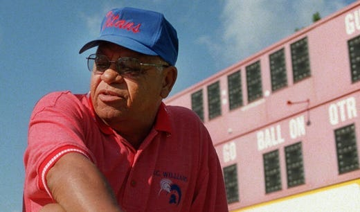 "Herman Boone, the real-life coach portrayed by Denzel Washington in the movie ""Remember the Titans"" and the father of PCCS Superintendent Monica Merritt passed away."