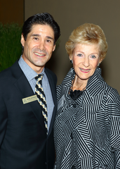 Kraig Johnson, JFS Desert's assistant executive director, smiles with Barbara Platt.