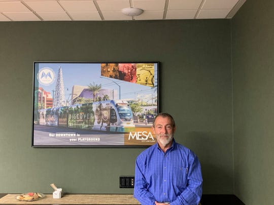 Rich Adams in the Visit Mesa board room. Adams is currently chair of the tourism organization's board and 2019 citizen of the year for Mesa.