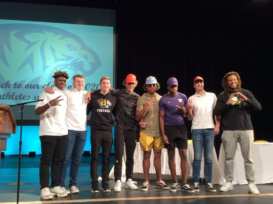 Saguaro football team on Early Signing Day 2019