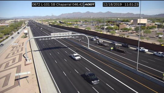 Northbound Loop 101 closed at Chaparral Road