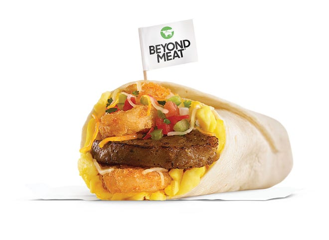 The Beyond Sausage Burrito is now available at Carl's Jr. restaurants.