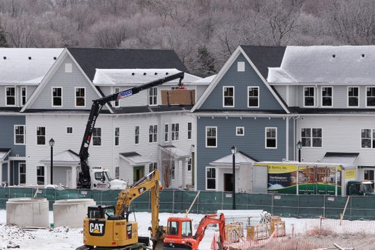 Finishing touches are being done on the first phase of Eastdale Village in the Town of Poughkeepsie on December 18, 2019.