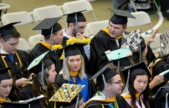 Nearly 300 students receive their degrees during the York College Winter Commencement, Wednesday, December 18, 2019. York College saw 5% fewer freshmen enroll in fall 2019 compared with fall 2017. John A. Pavoncello photo