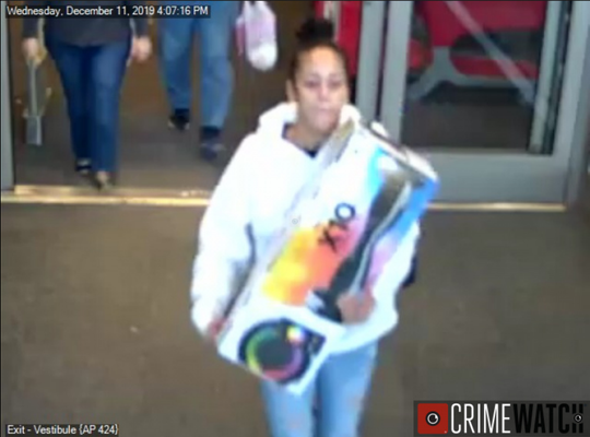 A woman wanted for theft at the Target in West Manchester Township.
