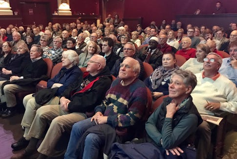 The YDR's York History Storytellers plied their craft before an audience of 200 in a grand evening at the Capitol Theatre in York. Presenters covered a wide range of topics: the York Plan in World War II; women's suffrage nearing its 100th anniversary; restoration of Lebanon Cemetery in North York, a historic black cemetery; geology's impact on local history; adoption of the Articles of Confederation; medicine and other uses of dandelions; the landmark fugitive slave case of Prigg in the U.S. Supreme Court; and the surrender of York during the Civil War.