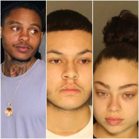 Anu-Malik Johnson, 21, Jalen Bellaflores, 19 and Kieara Aleysiah Martinez, 18, all charged in connection with the Dec. 2 shooting death of Andrew White Jr. at the Regal Cinemas in West Manchester Township.